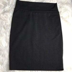 LuLaRoe Large Black Cassie Skirt- HTF pencil skirt
